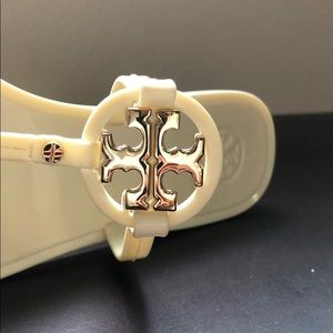 Tory Burch Shoes - Tory Burch White Jelly Flip Flops - Size 7